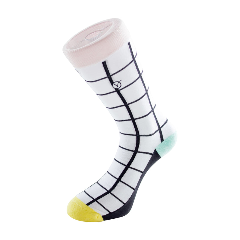 Women's Long Crew Sock - Window  Panes
