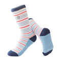 Boy's Casual Crew Sock - Thin Blue and Red Stripes