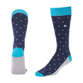 Men's Dress Sock - Blue with Big Dots