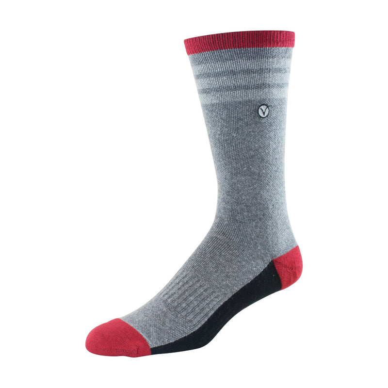 Mens Crew Socks (Grey and Red)