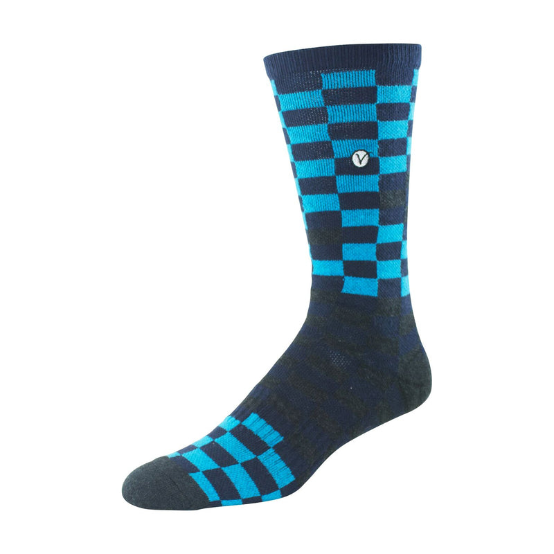 Mens Crew Socks (Blue and Black Block )