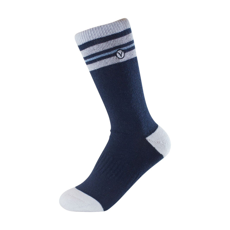 Boy's Crew Sock - Blue and White Thin Stripe