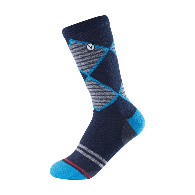 Boy's Crew Sock - Blue and Grey Argyle