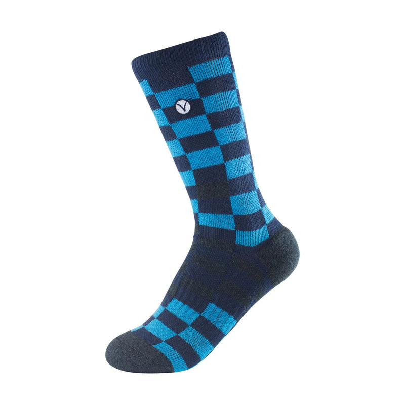 Boy's Crew Sock - Blue and Black Block