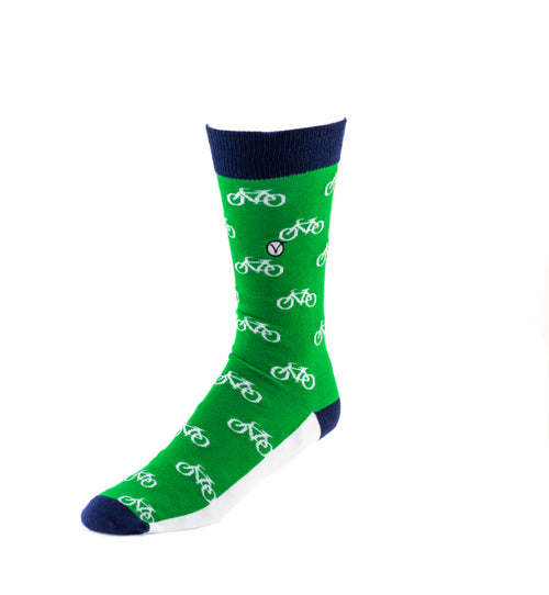 Men's Dress Sock - Bicycles