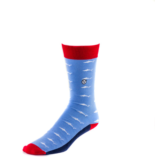 Men's Dress Sock - Sharks