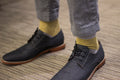 Men's Dress Sock - Yellow Thin Stripes