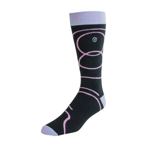 Men's Dress Sock - Pink Swirls