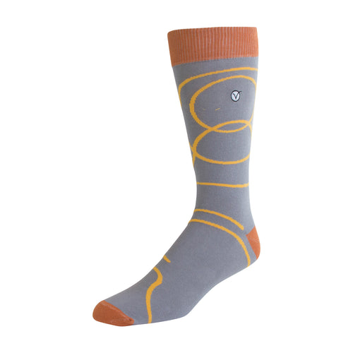 Men's Dress Sock - Yellow Swirls