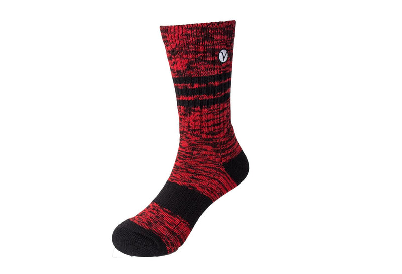 Boy's Casual Crew Sock - Red