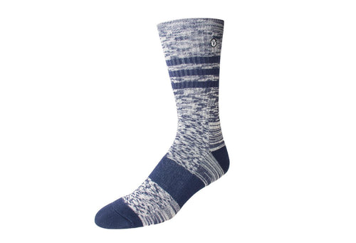 Men's Casual Crew Sock - Heather Blue