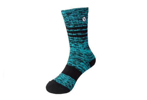 Boy's Casual Crew Sock - Turquoise