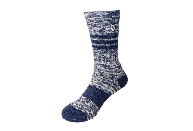 Boy's Casual Crew Sock - Heather Blue