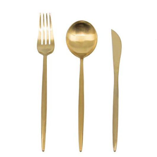 Statement Stainless Steel Flatware - Gold