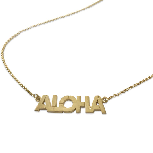 Aloha Necklace in Vermeil