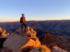 Lisa Roberts standing on overlook of Grand Canyon Rim-to-Rim-to-Rim R2R2R trail