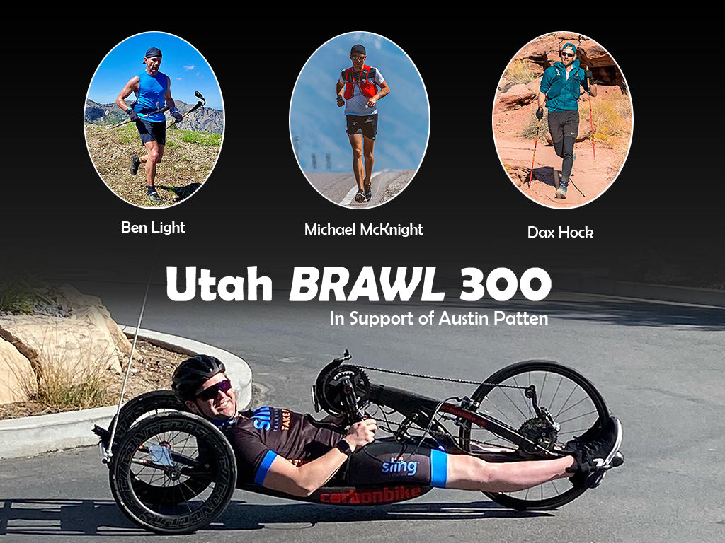 Ben Light, Michael McKnight, Dax Hock running the Utah Brawl 300 in support of Austin Patten.