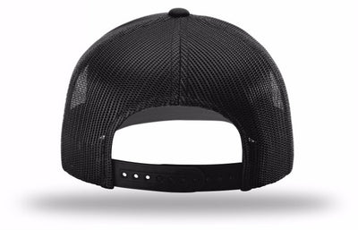 Kogalla UltRA snap-back trucker hat black/black back view