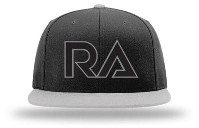 Black/Dark Grey 110F Flat Visor Flexfit Snapback