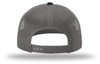 Kogalla UltRA snap-back trucker hat black/charcoal back view