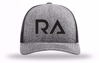 Heather Grey/Black Snap Back Trucker Hat