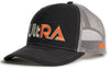 Kogalla UltRA snap-back trucker hat black/charcoal perspective view