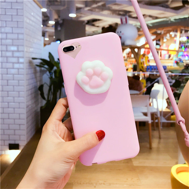 cheap for discount 0ee57 a2b45 3D Squishy Cat Claw Case for iPhone 6, 6S, 7 Plus
