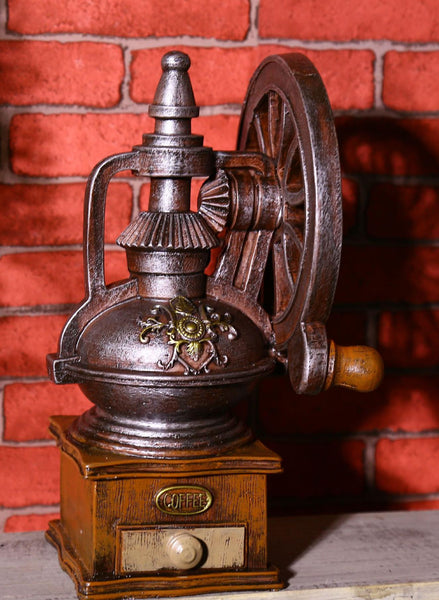 Zakka Shabby Chic Coffee Grinding Machine Home Decoration Accessories Coffee Shop Bar Decoration Vintage Home Decor 24*14*13cm