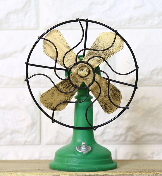 Shabby Chic Fan Model Vintage Home Decor Resin Crafts Retro Home Decoration Accessories Zakka Bar Cafe Decorated 17*13cm