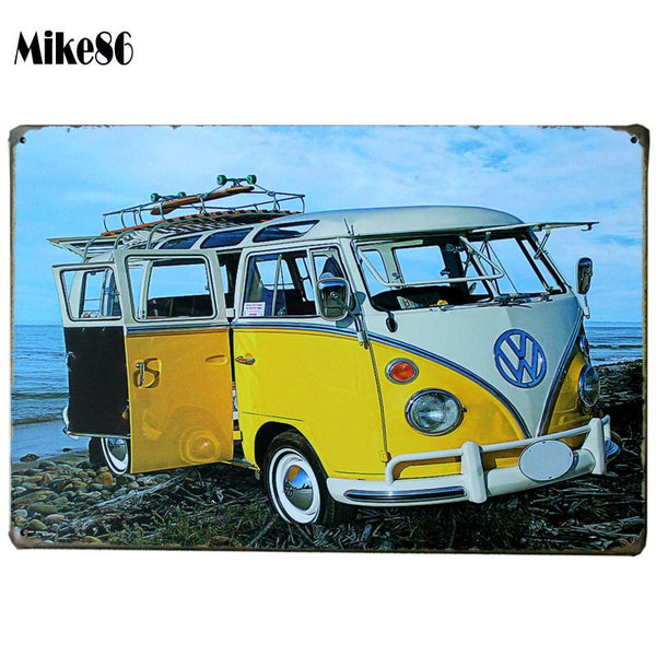 [ Mike86 ] VW bus Vintage Metal signs wall decor House  Bar Metal Paintings art  B-131 Mix order 20*30 CM