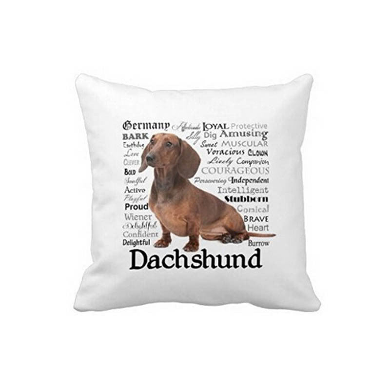 Personalized Hot Sale Funny Dachshund Zipper Pillowcase Cover Throw Pillows