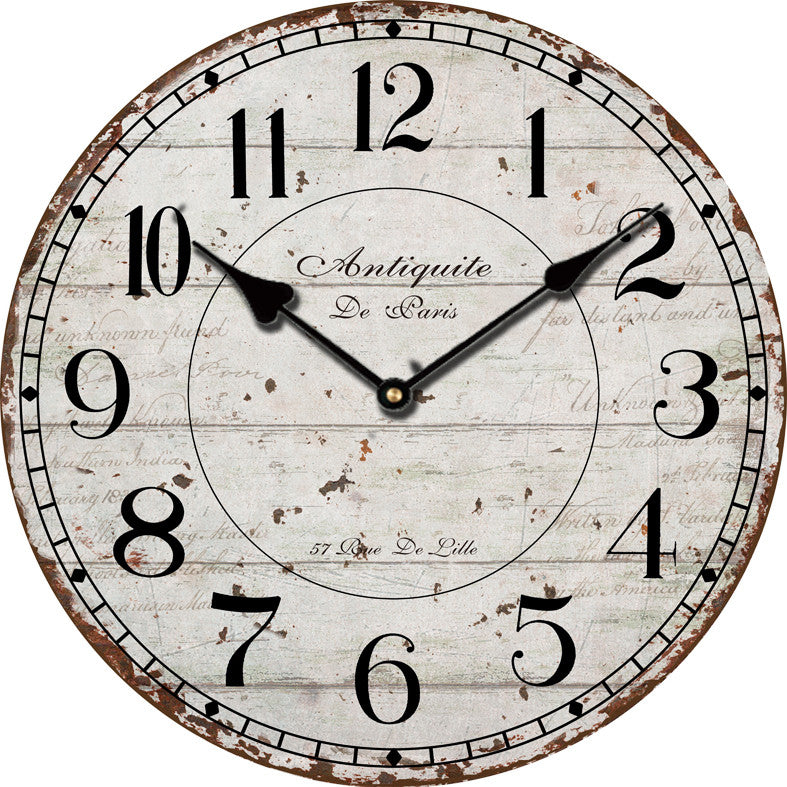 New Arrived Home Decor Vintage Antique Wooden Wall Clock Modern Design Shabby Chic Rustic Large Decorative Wall Clocks Oversized