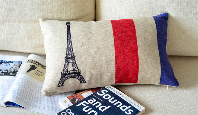 Paris  pillow cushion covers  sofa chair cushions  shabby chic home decor
