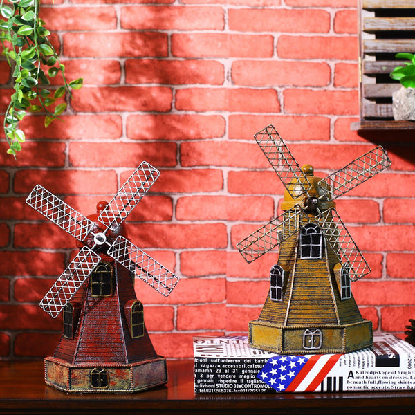 Retro Netherlands Windmill Piggy Bank Gift Vintage Home Decor Resin Crafts Shabby Chic Home Decor