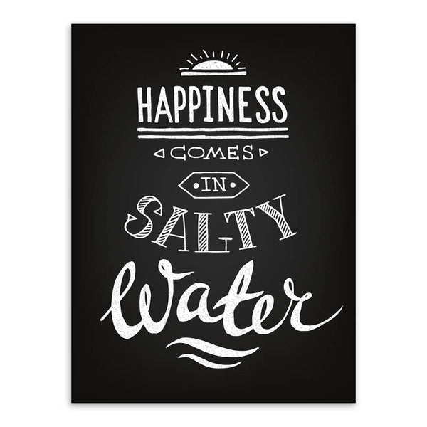 Black White Vintage Retro Typography Summer Quotes A4 Canvas Art Print Poster Wall Picture Sea Beach Bar Decor Painting No Frame