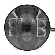 "LUMENS HPL LED Projector Sealed Beam 7"" Round DOT - (each) BLACK"