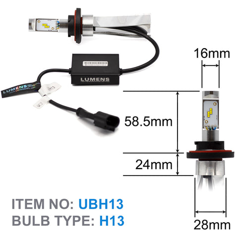 H13 ULTRA LED Bulb & Driver with Smart Box V2 (Pair)