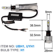 H1 ULTRA LED (Pair) with ALHX Adapters (Pair) U4 Setup