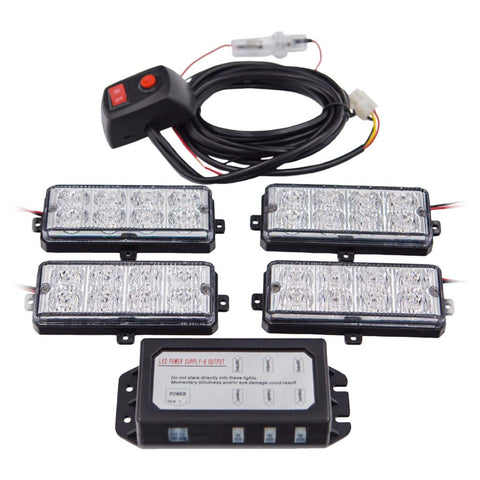 4 PC Surface Mount Strobe Kit by LUMENS HPL