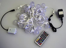 Small Frosted Candle Lites:  25 LEDs (25 Ft), Remote Control