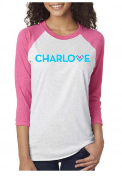 Charlotte T-Shirt Children's Raglan (Navy, Lt. Blue, Pink)