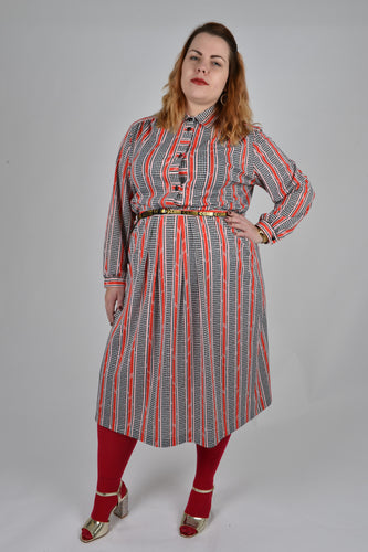 Vintage Shirt and Skirt Suit- Size 20