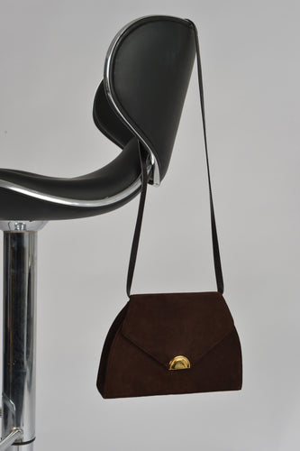 Vintage Brown Suede Carvela Bag