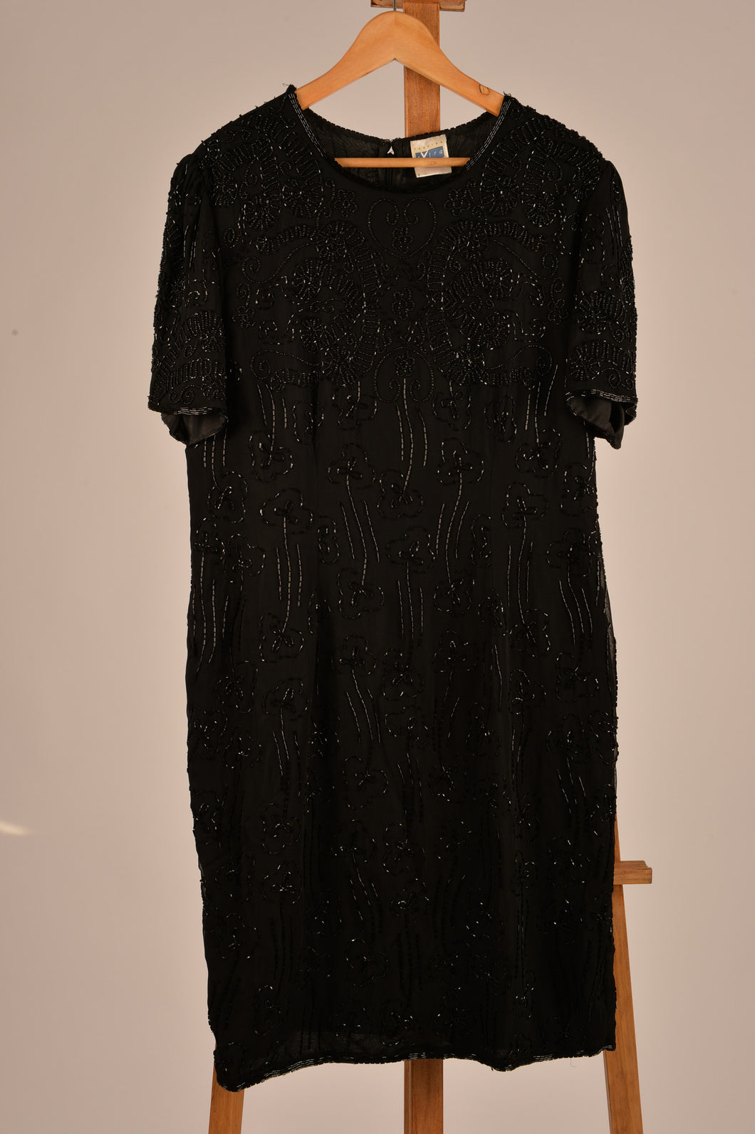 Vintage Beaded Party Dress- Size 16