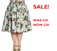SALE! HELL BUNNY Tahiti Skirt with Buttons