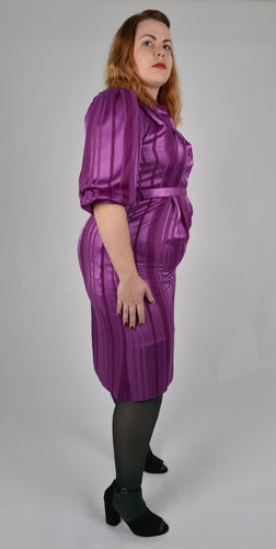 Vintage Violet Stripe Dress- Size 16