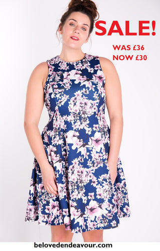 SALE! MARIE Cherry Blossom Fit and Flare Dress