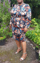 plus size fearne floral suit peplum womenswear