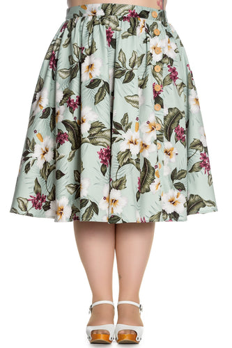 HELL BUNNY Tahiti Skirt at Beloved Endeavour Plus Size Retro 50s
