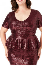 Eva Sequin Peplum Dress